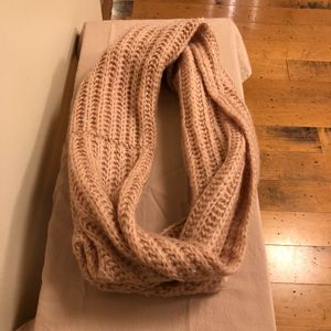 ECHO brand infinity/loop knit scarf in Soft Pink
